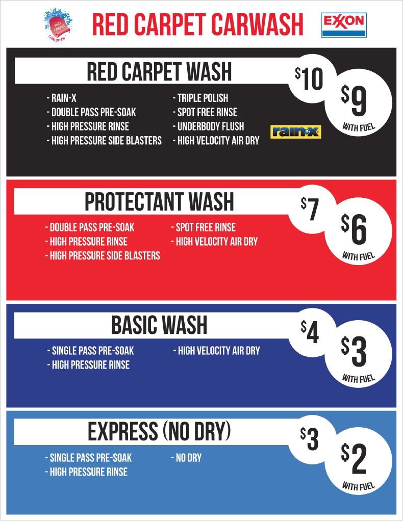 Red Carpet Car Wash Application